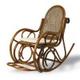 """Плетеное из ротанга кресло-качалка Нуго выполнено в стиле  """"под старину """""""