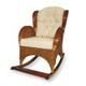 Плетеное из ротанга кресло-качалка классического стиля с элементами из...
